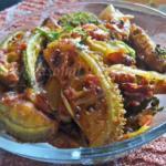 Aa Kakarakaya Vepudu - Andhra Spiny Gourd Tomato Fry | Kakrol Fry