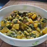Aloo Palak Dry Sabzi With Spinach And Potato | Punjabi Saag Aloo Fry