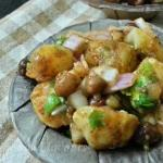 Alu Kabli Recipe - Kolkata Potato Chickpea Snack | Aloo Chana Chaat
