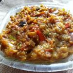 Baingan Bharta - Roasted And Mashed Eggplant With Onion Tomato