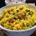 Basanti Pulao Bengali Sweet Yellow Pulao | Holud Mishti Pulao With Kaju
