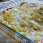 Baked Corn In Creamy White Sauce | Cheesy Creamed Corn Bake