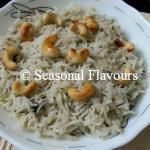 Jeera Rice - Punjabi Cumin Rice | Cumin Seeds Flavoured Jeera Pulao