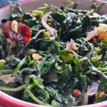 Kolmi Shak Bhaja - Bengali Water Spinach Stir Fry | Kalmi Saag Fry