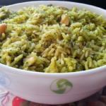 Kothimeera Kobbari Annam - Andhra Coriander Rice | Cilantro Rice Pilaf