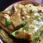 Shorshe Doi Begun - Eggplant In Mustard Yogurt Gravy | Begun Shorshe