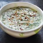 Spinach Raita - Punjabi Palak Dahi Raita | Indian Yogurt Spinach Dip