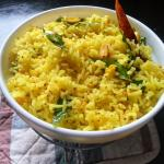Lemon Rice - Andhra Nimakkaya Pulihora | Chitrannam Lemon Yellow Rice